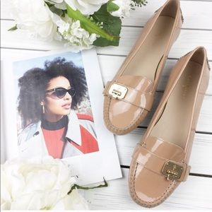 Cole Haan Tan Brown Patent Loafers 10